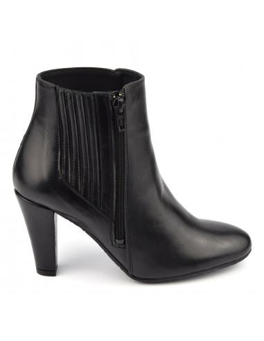 Bottines stylées cuir lisse noir, femme petits pieds, Vaya, Bella B
