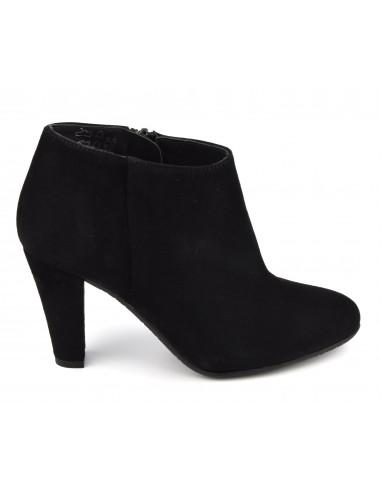 Low boots cuir daim noir, petites tailles, 33, 34, Valos, Bella B