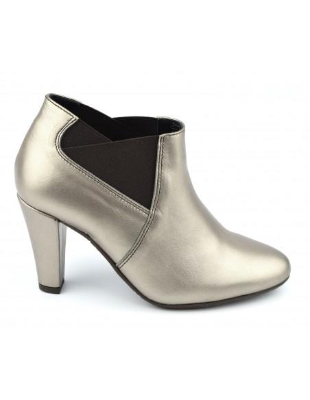 Boots élastique, cuir lisse bronze doré, petites tailles, femme, 33, 34, Vax, Bella B