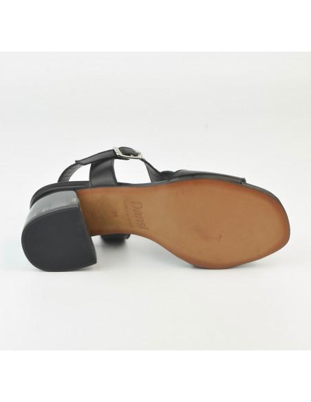 Sandales noires talon transparent 2487 Dansi - Vu semelle