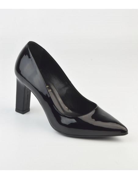 Escarpins cuir verni noir, 2041, Dansi - Vu de devant