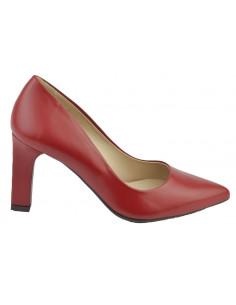 Escarpins cuir lisse rouge, 2041, Dansi , petites pointures - Vu de profil