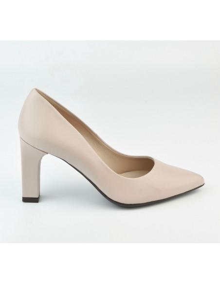 Escarpins cuir lisse nude 2041 Dansi, petite pointure - Vu de profil