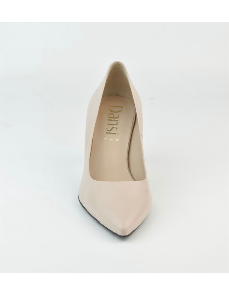 Escarpins cuir lisse nude 2041 Dansi, petite pointure - Vu de la pointe avant