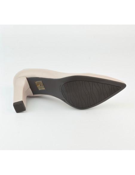 Escarpins cuir lisse nude 2041 Dansi, petite pointure - Vu de la semelle extérieur