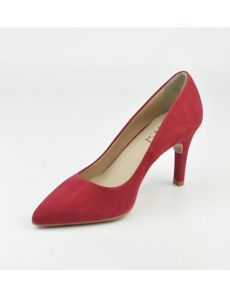Escarpins daim rouge, 8433 Dansi, petite pointure - Vue diagonal interieur