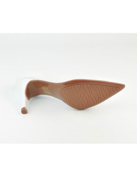 Escarpins cuir lisse blanc, 8433 Dansi, petites pointures - Vue semelle exterieur