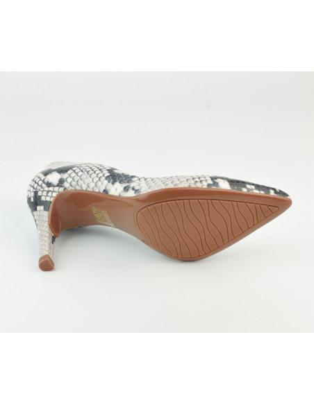 Escarpins cuir imprimé serpent, 8433 Dansi, petites pointures - Vue semelle extérieur