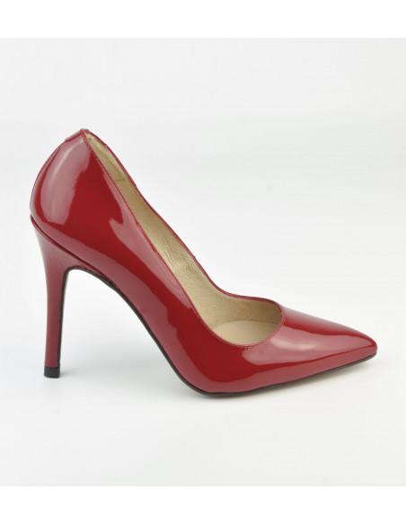 Escarpins cuir verni rouge, 1560 Dansi, petite taille - Vue profil