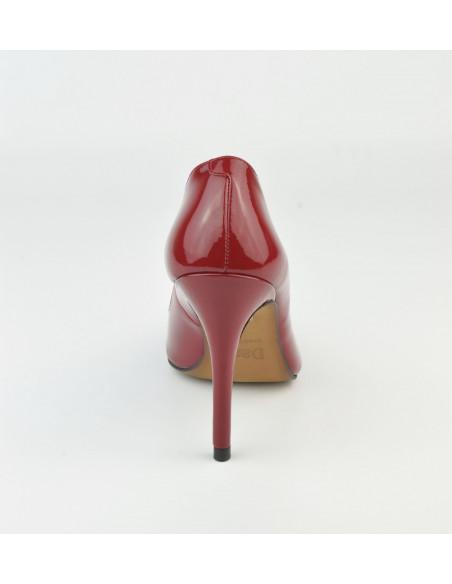 Escarpins cuir verni rouge, 1560 Dansi, petite taille - Vue talon arrière