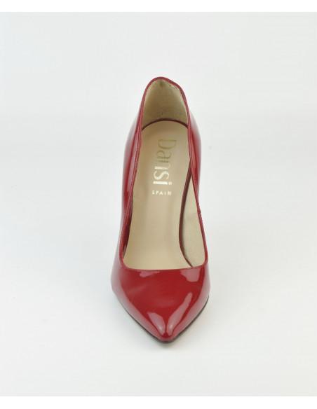 Escarpins cuir verni rouge, 1560 Dansi, petite taille - Vue pointe avant
