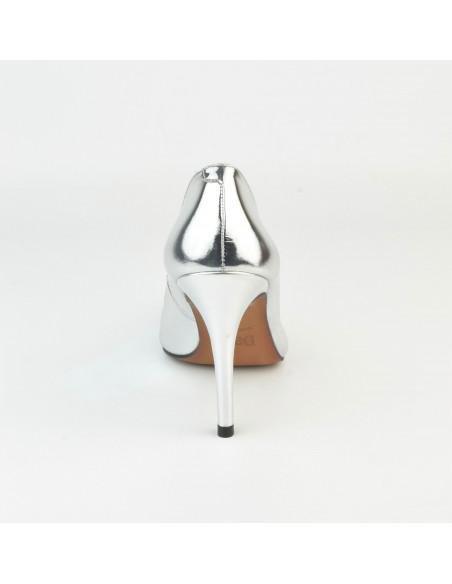 Escarpins cuir Agent Miroir 1560 Dansi, petite taille - Vue arrière talon