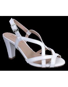 Sandales mariage blanches, petites pointures, vue avant