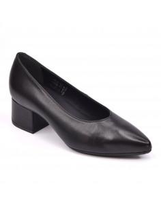 Escarpins hôtesse, petite pointure, femme, cuir lisse noir, Vector, bella B, Pointure 33 34 35