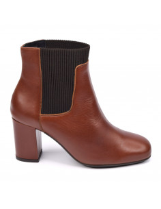 Bottines, cuir lisse marron cognac, Blondy, femme petite pointure 33 34 35, Blondy, Bella B, vue profil