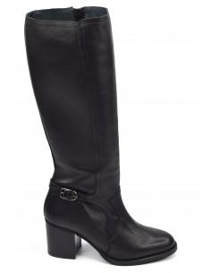 Bottes cuir lisse noir, 3163, Dansi, femme petite pointure, Vue profil