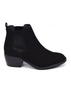 Boots, daim noir, 3141, Dansi, femme petite taille, vue de profil