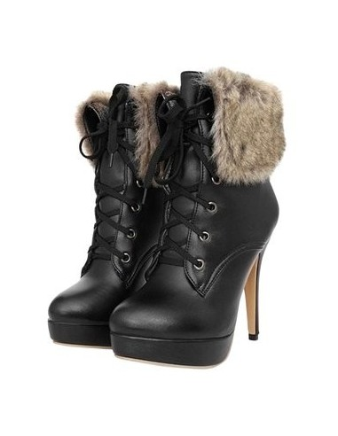"""""""Cleome"""" black ankle boots for women"""
