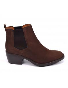 Boots daim marron foncé, 3141, Dansi, femme petite pointure, Vue profil