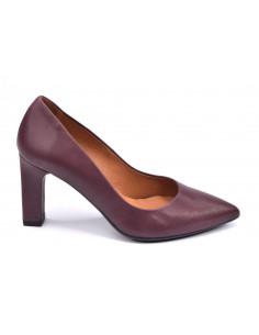 Escarpins cuir mat, bordeaux prune, femme petite pointure, 32 33 34 35, 2041, Dansi, Vue profil