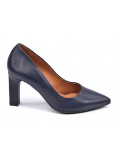 Escarpins cuir bleu marine, 2041 Dansi, petites pointures - Vu de profil