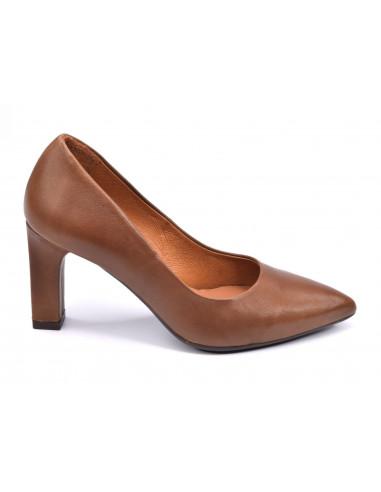 Escarpins mat marron clair, femme petite pointure, 32 33 34 35, 2041 Dansi, Vue profil