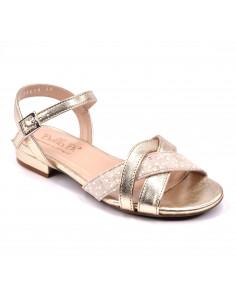 Sandales plates, or, femme petite pointure