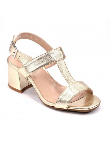 Sandales dorées, femme petites tailles, chaussure