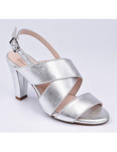 Sandales mariée, argent, petite pointure femme