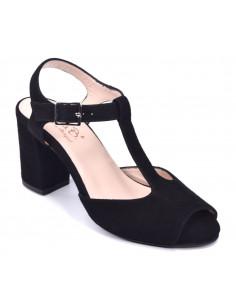 Sandales cuir suédine noir Blog, Bella B, chaussure petite pointure