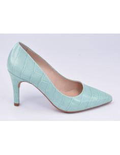 Escarpins cuir croco, bleu celeste, 8433, Dansi, femme petites pointures