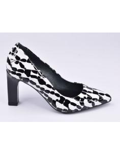Escarpins noir et blanc, 2041, Dansi, femme petite pointure