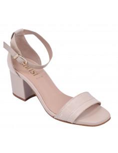 Sandales Cuir croco beige, femme petite pointure 8359, Dansi