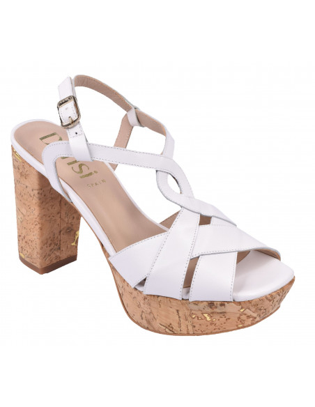 Sandales Plateforme, blanc, 2466, Dansi, Femme petite pointure