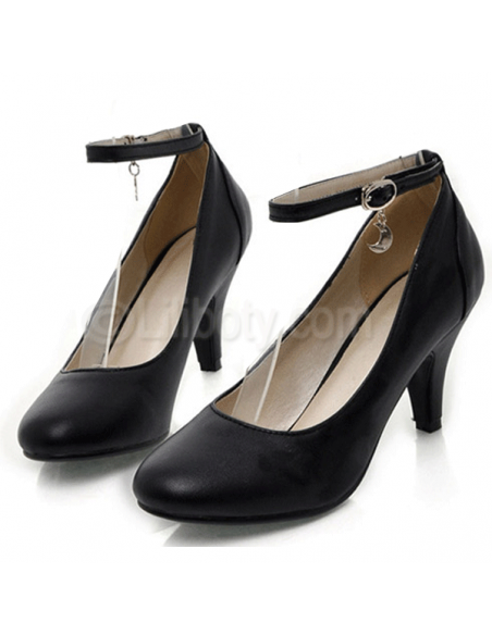 """Black """"Ambroisie"""" pumps with small heels in small size for women"""