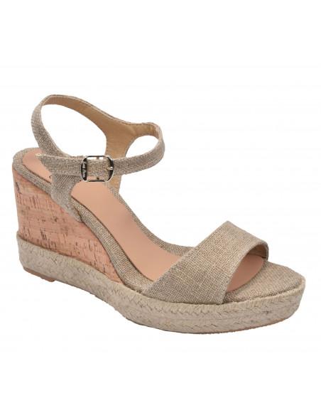 Sandales compensées, Anais-LC Natural, Toni Pons, femme petite pointure 33 34