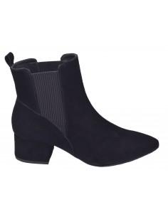 Boots chelsea, daim noir, Vegie Bella B, femme petites pointures 33 34 35