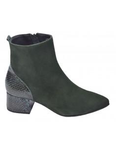 Boots, daim vert, Venus Bella B, femme petites pointures 33 34 35