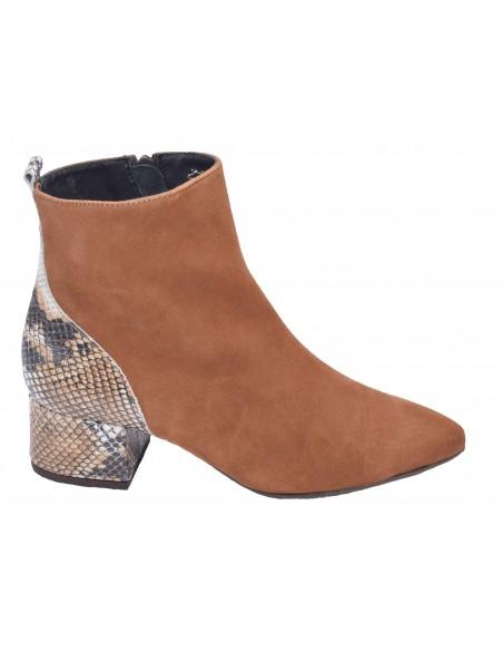 Boots, daim cognac, Venus Bella B, femme petites pointures 33 34 35