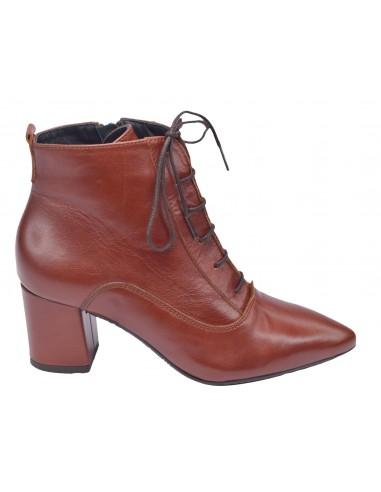 Bottines lacets, daim marron, Rover Bella B, femme petites pointures 33 34 35