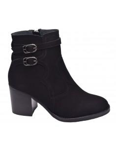 chaussure, bottines, femme petites pointures, noir, vue profil