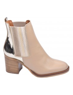 chaussure, bottines, femme petites pointures, nude, vue profil