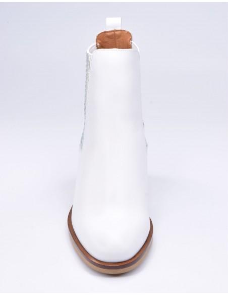 chaussure, bottines, femme petites pointures, blanc, vue avant