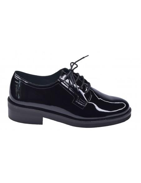 chaussure, derbies, femme petites pointures, noir, vue profil