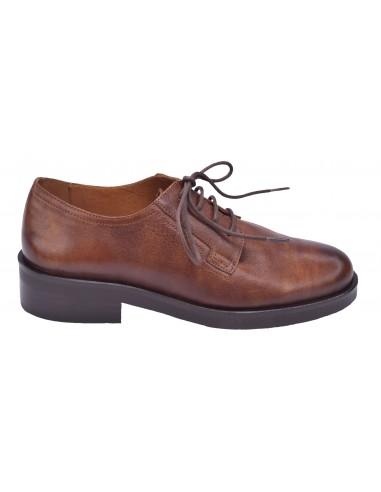 chaussure, derbies, femme petites pointures, marron, vue profil