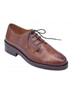 chaussure, derbies, femme petites pointures, marron, vue diagonale