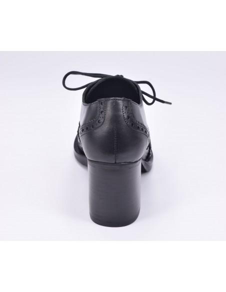 chaussure, derbies, femme petites pointures, noir, vue talon arrière