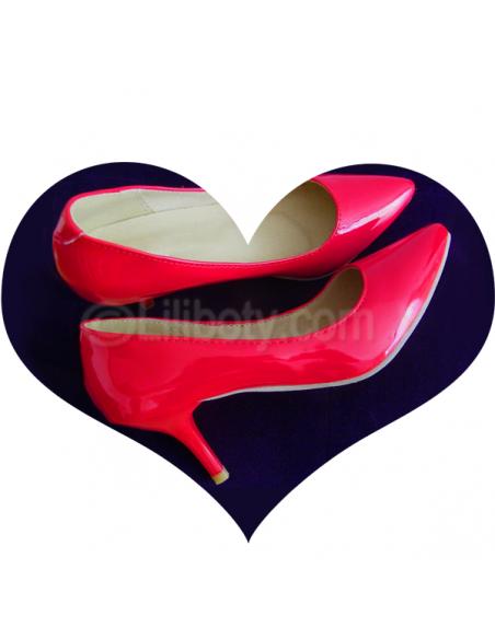 Escarpins rouges petite pointure femme