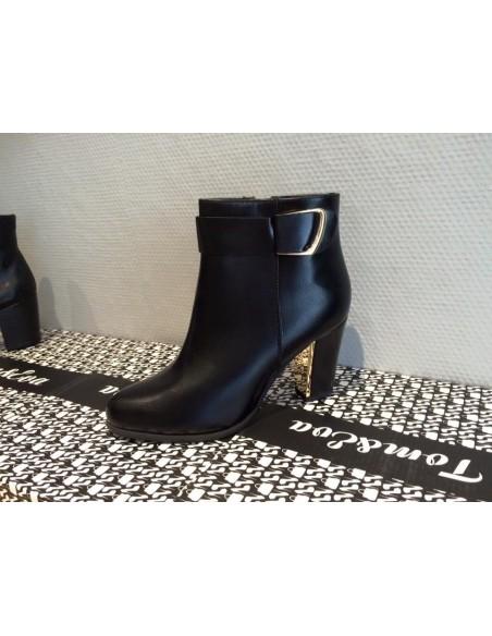 Belles Bottines noires femme pointure 36 au 41 pas cher, petit prix, tendance