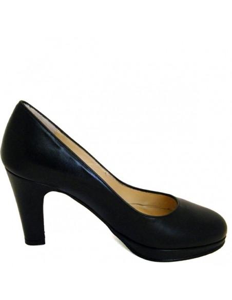 Escarpins noir cuir